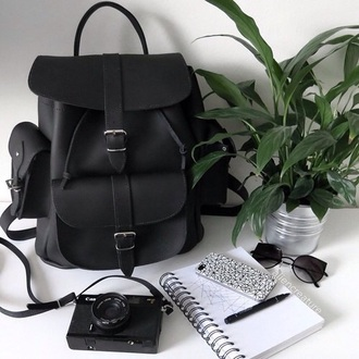 bag black bag american apparel sunglasses phone cover backpack grunge black minimalist velvet backpack leather urban outfitters black backpack packpack cute bag home accessory