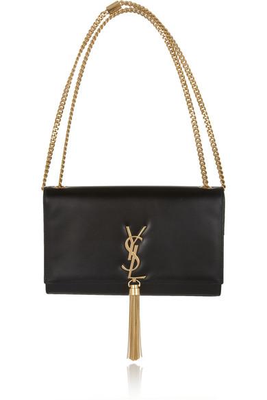 saint laurent monogramme leather shoulder bag net a porter com. Black Bedroom Furniture Sets. Home Design Ideas