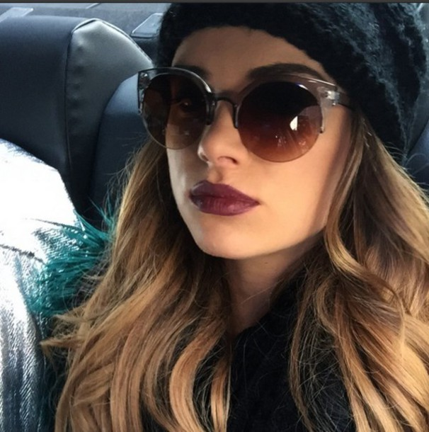 sunglasses big round sunglasses stylish fashionista shades