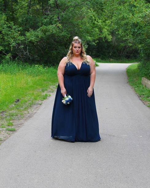 Dress Plus Size Bridesmaid Dress Curvy Plus Size Plus Size Dress