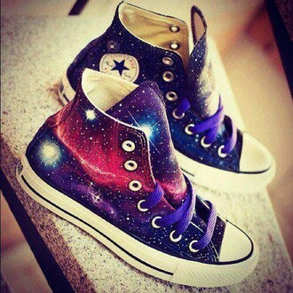 shoes galaxy print converse cute