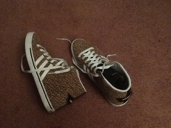 leopard print animal print shoes adidas shoes Leopard brown shoes white Cocolate tan fashionshoes