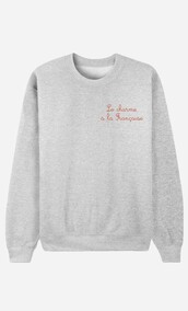sweater,grey sweater,embroidered