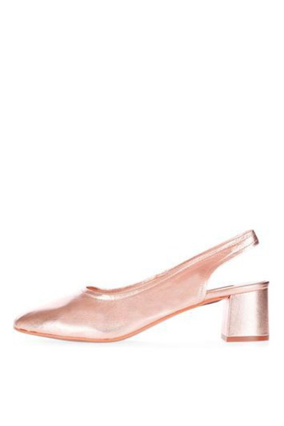 Topshop rose gold rose shoes gold