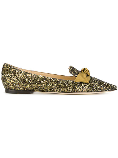 Jimmy Choo women shoes leather cotton green