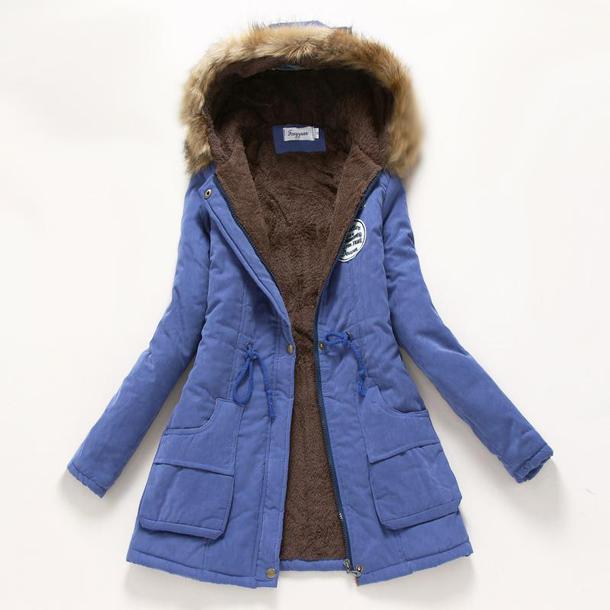 jacket womens parka coats with fur hood