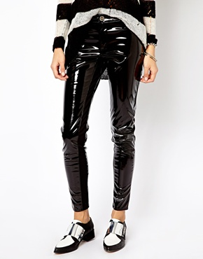 River Island | River Island High Shine Skinny Trousers at ASOS