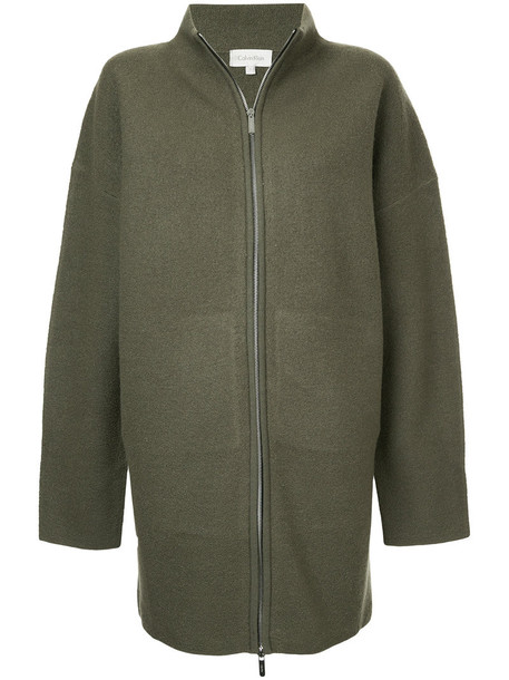 Ck Calvin Klein hoodie women wool green sweater