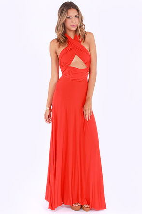 Awesome Red Dress - Maxi Dress - Wrap Dress - $68.00