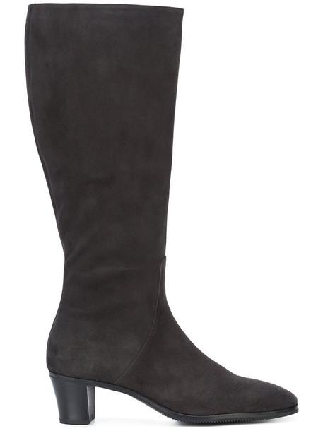 Gravati women leather suede grey shoes