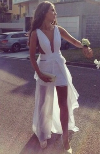dress white prom mesh roman style greek style prom dress halter dress floor length
