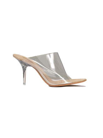 mules clear shoes