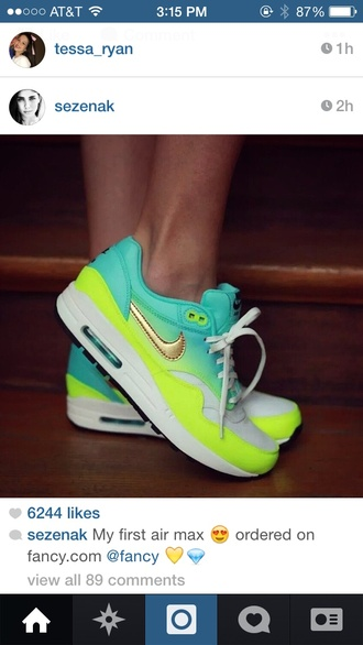 shoes green ombre ombré women's air max womens