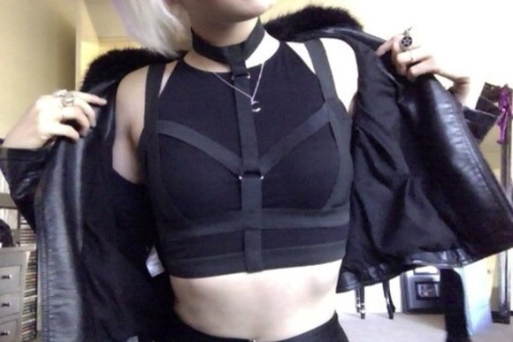 bustier black bustier black underwear tumblr jacket black jacket coat