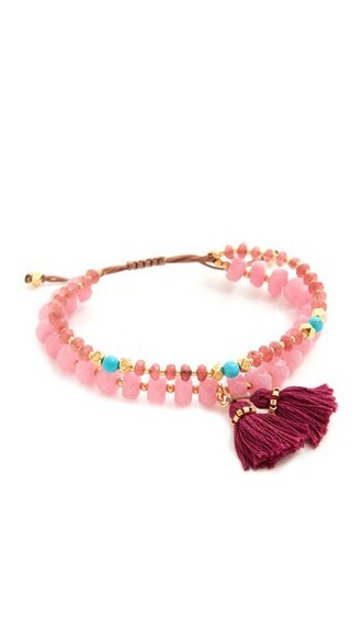 tassel pink jewels