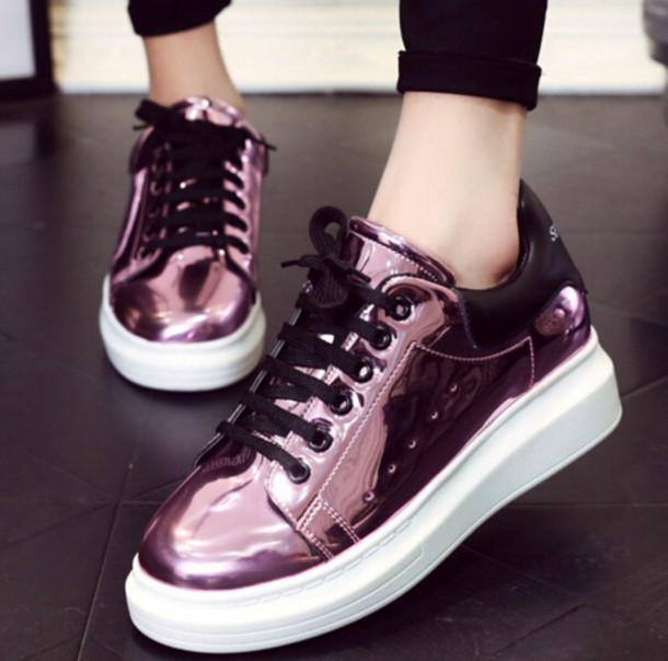 Pink Holographic Dress Shoes