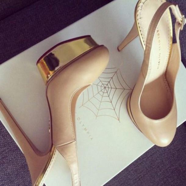 shoes heels gold heels