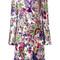 Roberto cavalli - lace detail printed dress - women - viscose/spandex/elastane/polyamide - 42, white, viscose/spandex/elastane/polyamide
