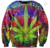 sweater,weed,crewneck,sweatshirt,clothes,bright,rasta,blogger,celebrity,rainbow print,psychedelic,t-shirt