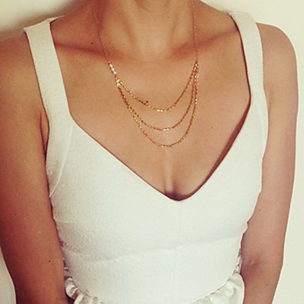 jewels necklace gold necklace fine necklace