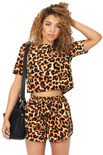 tank top leopard print matching outfit printed crop top blouse