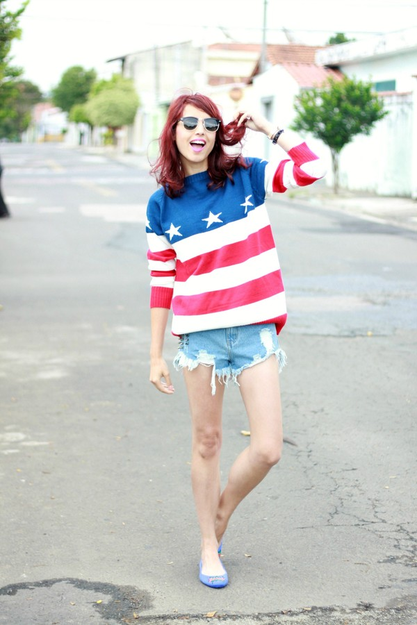 sweater romwe jumper stripes stars