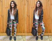 pants,floral,fashion blogger,Pop Couture,tropical,hibiscus