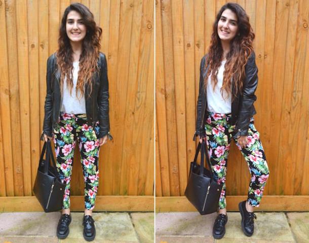 pants floral pants fashion blogger Pop Couture tropical hibiscus