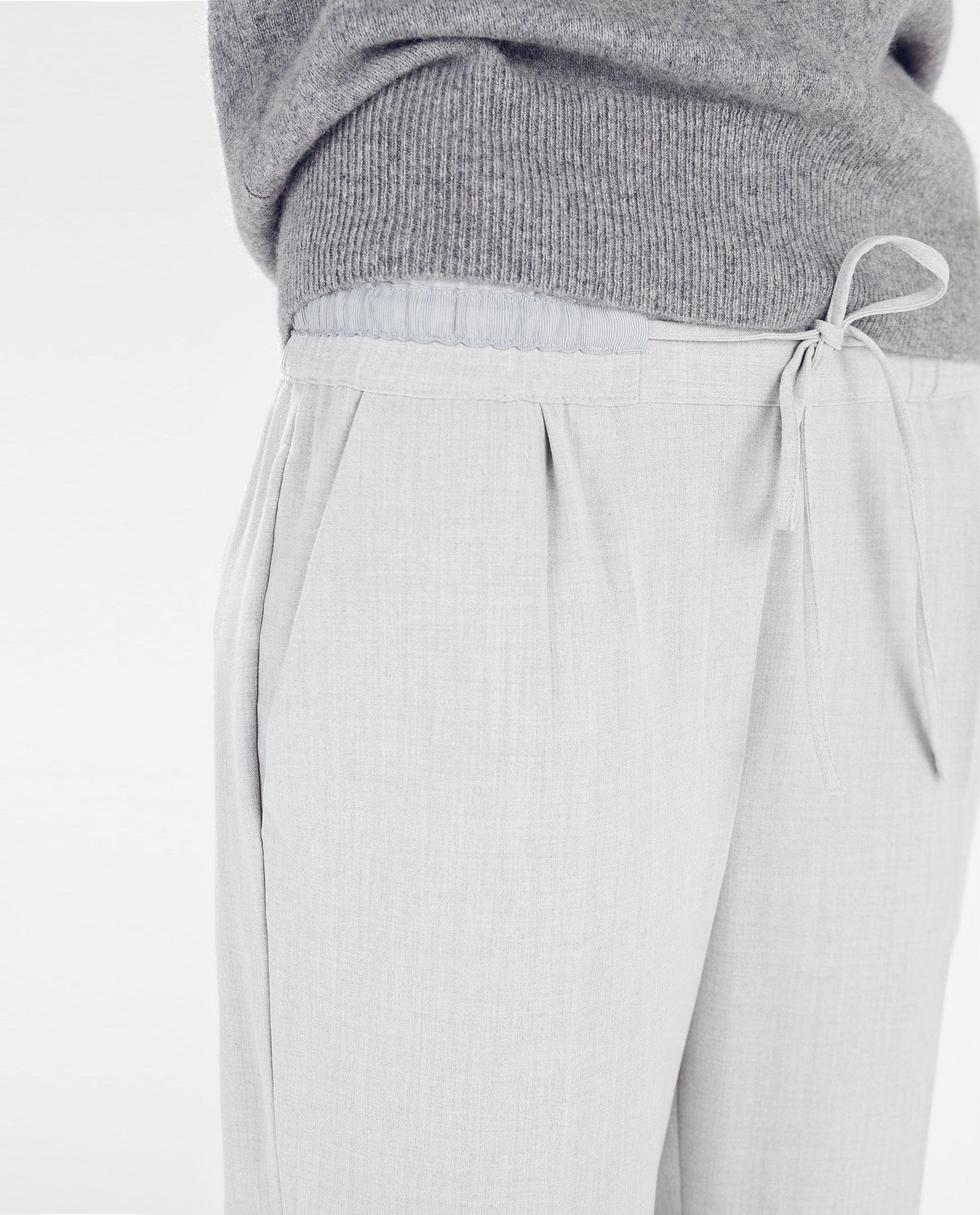 9563eb4e DRAWSTRING TROUSERS - Joggers - Trousers - WOMAN | ZARA United States