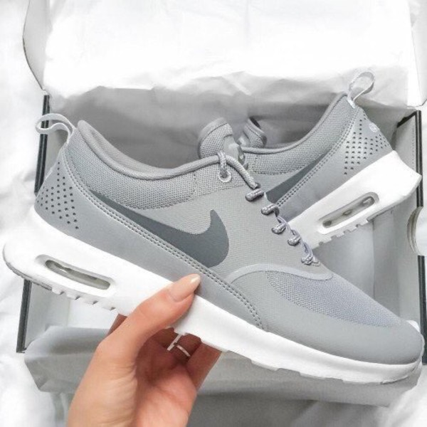 shoes grey sneakers low top sneakers air max nike women grey theas