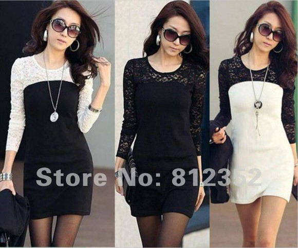 white black and white white dress black black and white dress black dresses lace lace dress