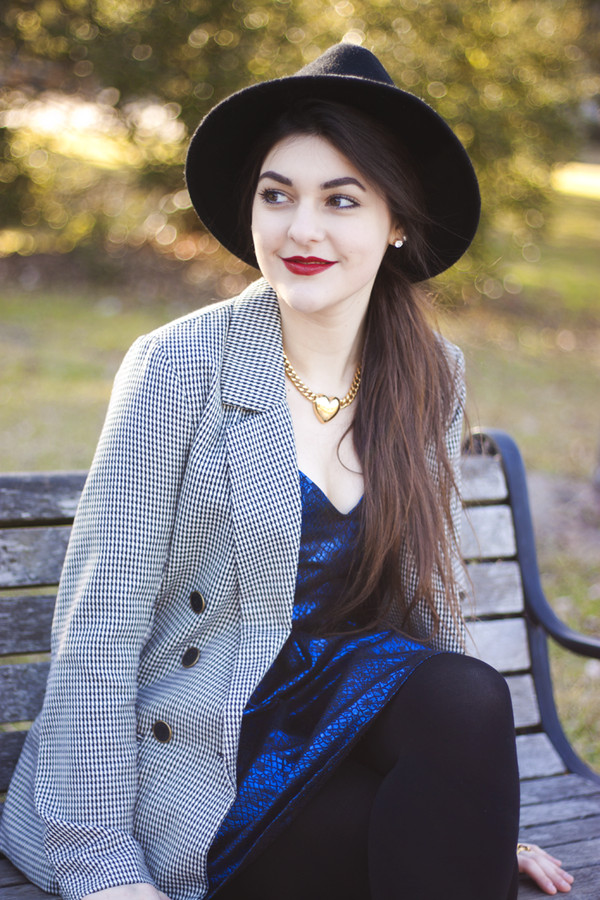 a walk in the park dress jacket hat shoes jewels