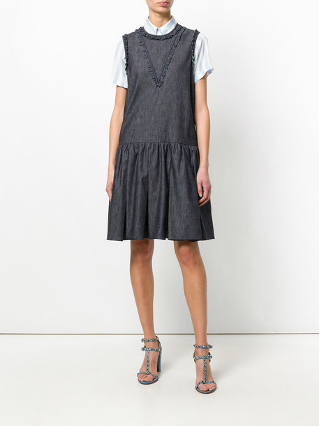 Rochas dress denim style women cotton black