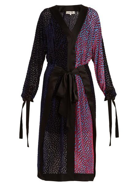Diane Von Furstenberg dress wrap dress blue