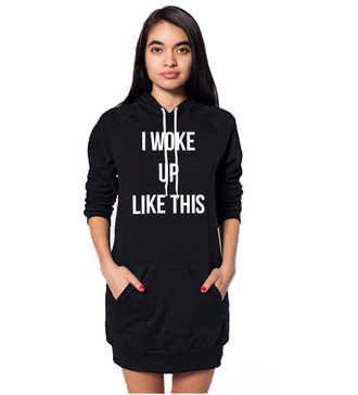 pullover pullover hoodie beyonce fashion slogan top slogan jumper pullover dress i woke up like this i woke up like this sweatshirt