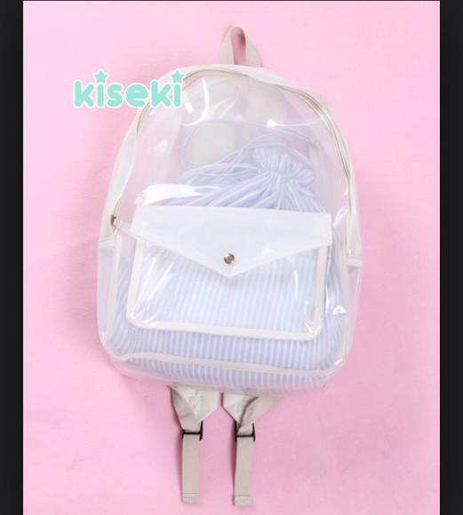 bag backpack see through rucksack