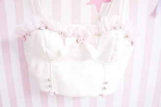 top kawaii pastel pink pale bralet top pastel pink fashion pink roses pale pastel