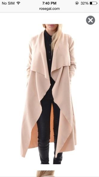 coat long cute black winter coat long coat camel coat long sleeves trendy fashion style cute outfits outfit outfit idea fall outfits winter outfits pretty leather leather leggings leggings wish wish wish girly girl