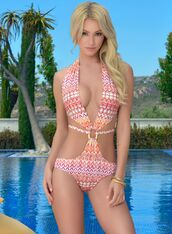 swimwear,lady lux swimwear,bryana holly,monokini,one piece,tribal pattern,boho,one piece swimsuit,bohemian