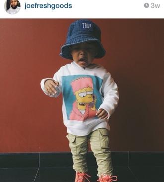 sweater simpson sweatshirt dope baby clothing hat simpson t-shirt