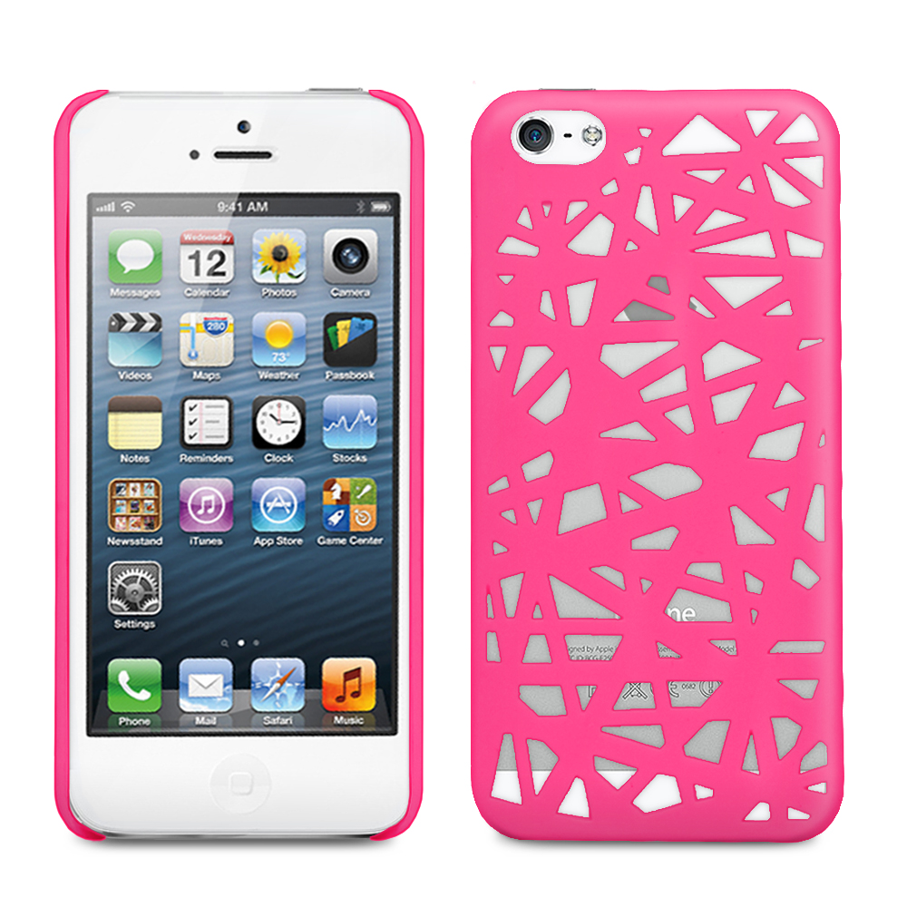uk availability 629a4 d946a Fosmon Bird Nest Series Rubberized Design Case for Apple iPhone 5 (Hot  Pink) | eBay
