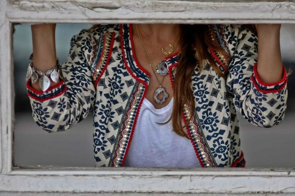 jacket clothes embellished jacket embroided boho