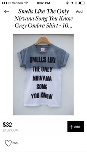 nirvana t-shirt,band t-shirt,top