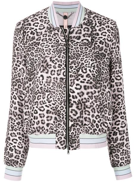 Marc Cain jacket bomber jacket women cotton print black leopard print