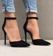 shoes,black,strappy heels,heels,pumps,tumblr,black heels,black shoes,high heels,ankle strap heels,court heels,pointed toe,instagram,black high heels,strappy black heels,strappy shoes,barely there heels,black barely there heels,gorgeous,elegant,velvet,grey,strappy,pretty,satin,blue,prom,prom dress