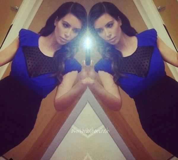 blue dress black black dress blue kim kardashian kardashians
