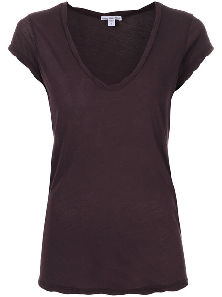 James Perse t-shirt shirt t-shirt women cotton purple pink top