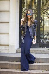 something navy,blogger,jacket,sunglasses,bag