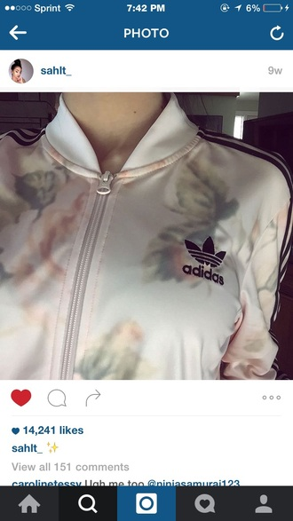 jacket adidas adidas sweater adidas jacket baseball jacket floral