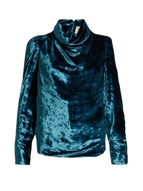 MAISON MARGIELA top velvet top velvet blue